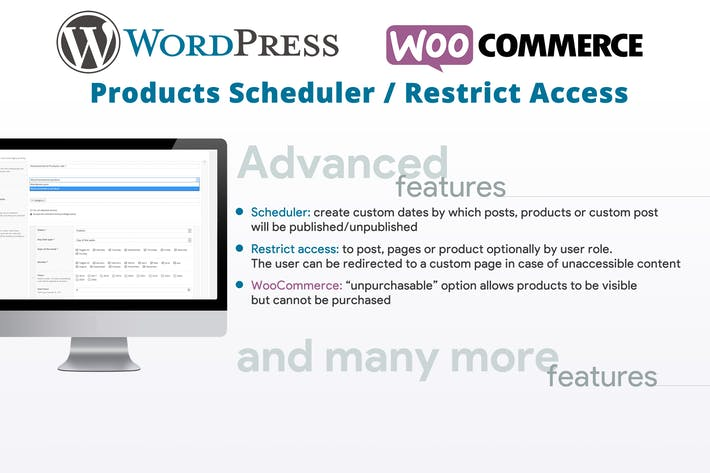 Thumbnail for Products Scheduler / Restrict Access