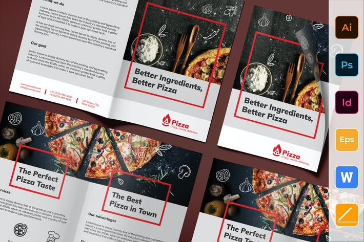 Thumbnail for Pizza Brochure Bifold