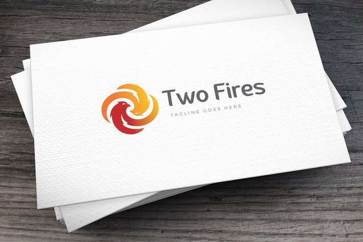 Thumbnail for Two Fires Logo Template