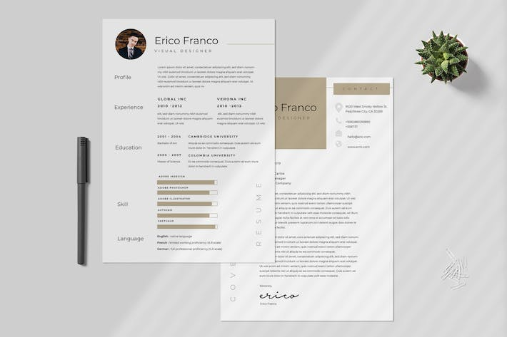 Thumbnail for Minimalist Resume Template Vol 28