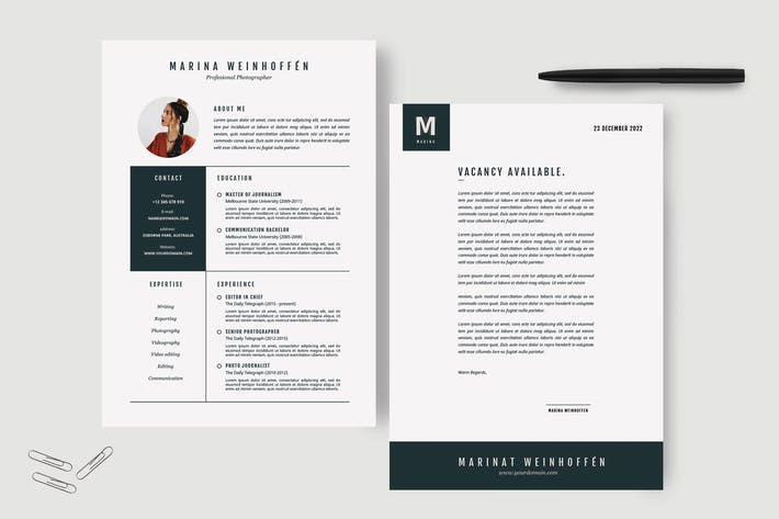 Thumbnail for Minimal Resume & CV Template
