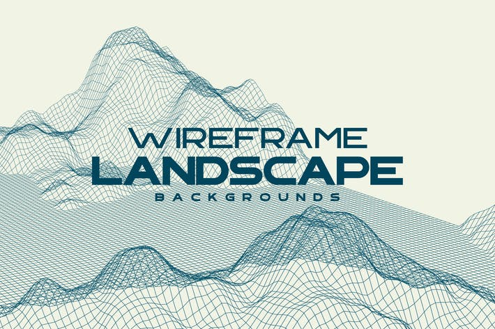 Thumbnail for Wireframe Landscape Mountains Backgrounds