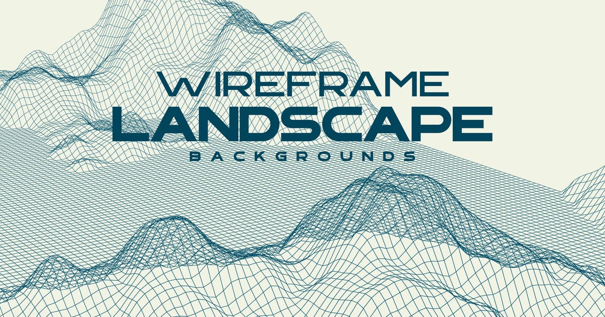 Download Wireframe Landscape Mountains Backgrounds by themefire