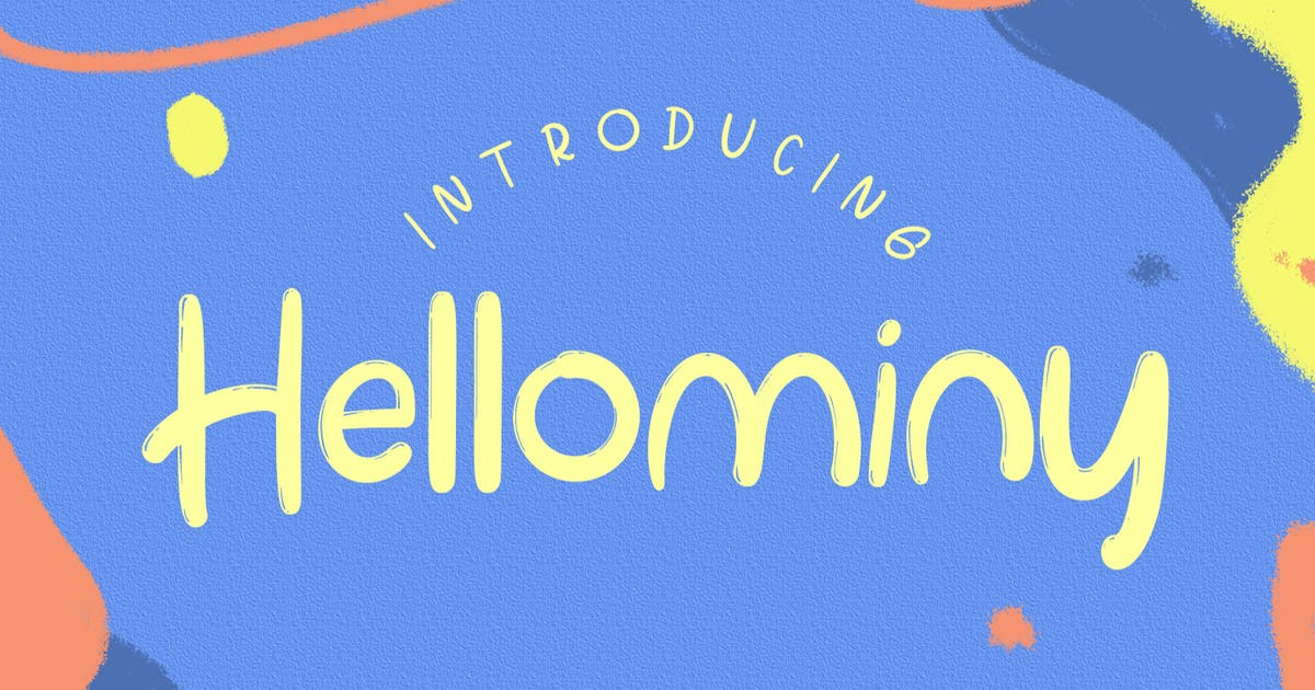 Download Hellominy Highlight Kids Font by templatehere