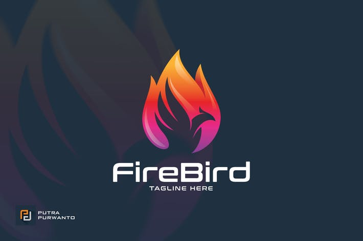 Thumbnail for Fire Bird / Phoenix - Logo Template