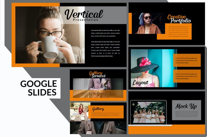 Thumbnail for Vertical Dark - Creative Google Slides