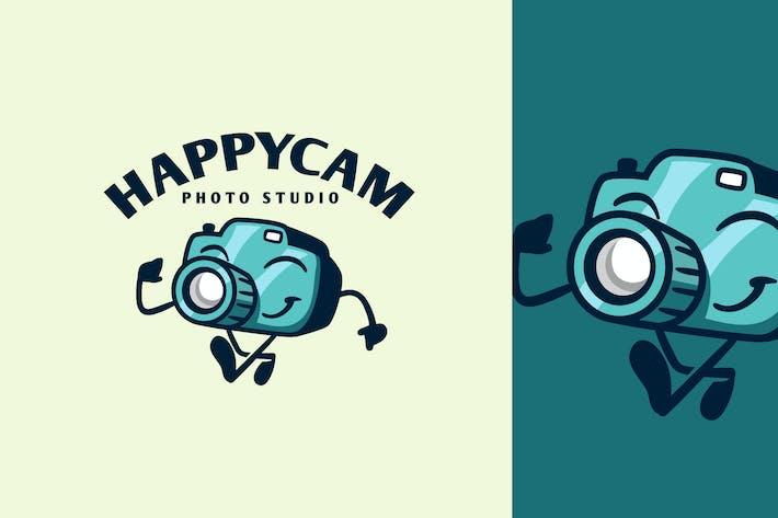 Thumbnail for Cartoon Walking Happy Camera Character Mascot Logo