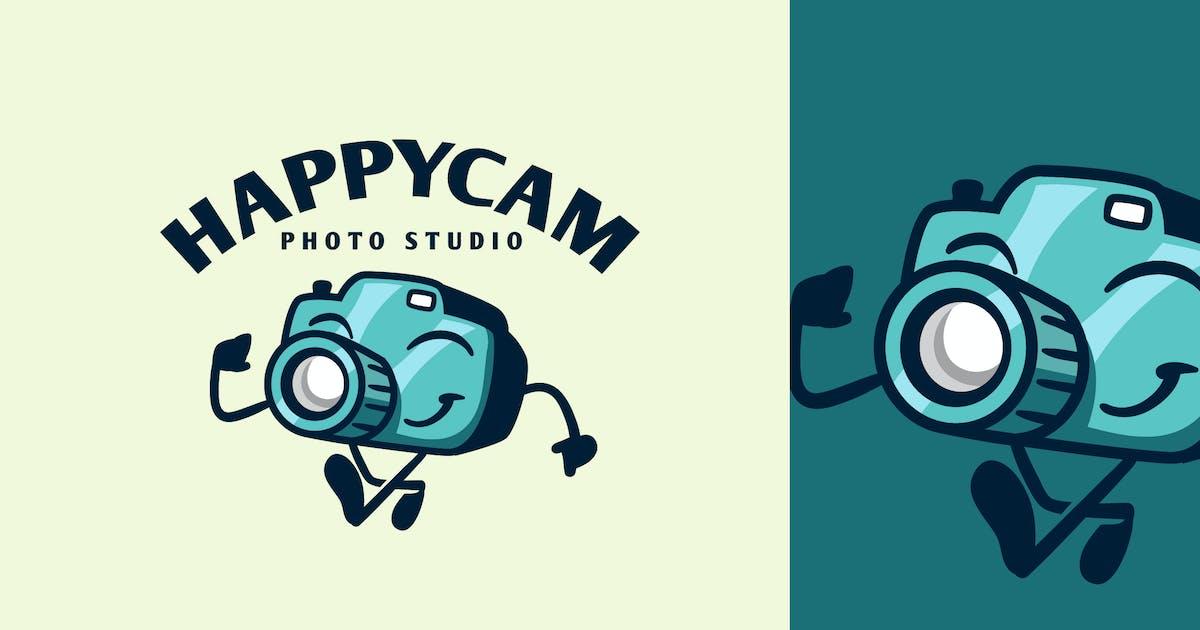 Download Cartoon Walking Happy Camera Character Mascot Logo by Suhandi