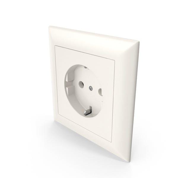 1 Wall Socket Outlet Beige