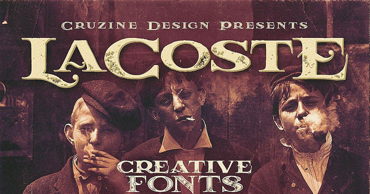 LaCoste Typeface by cruzine