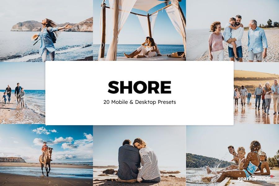 20 Shore Lightroom Presets & LUTs