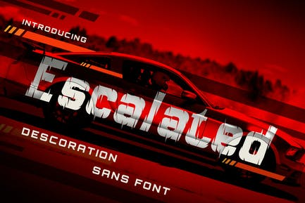 Escalated - Fast Motorsport Racing Font