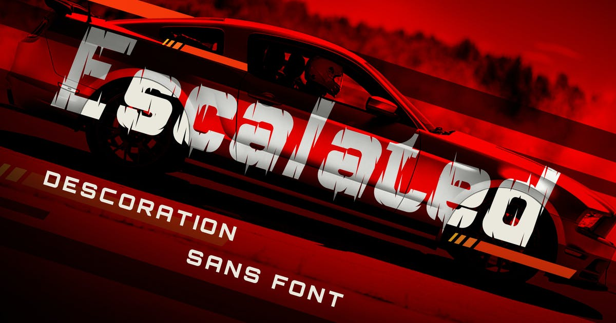 Download Escalated - Fast Motorsport Racing Font by naulicrea