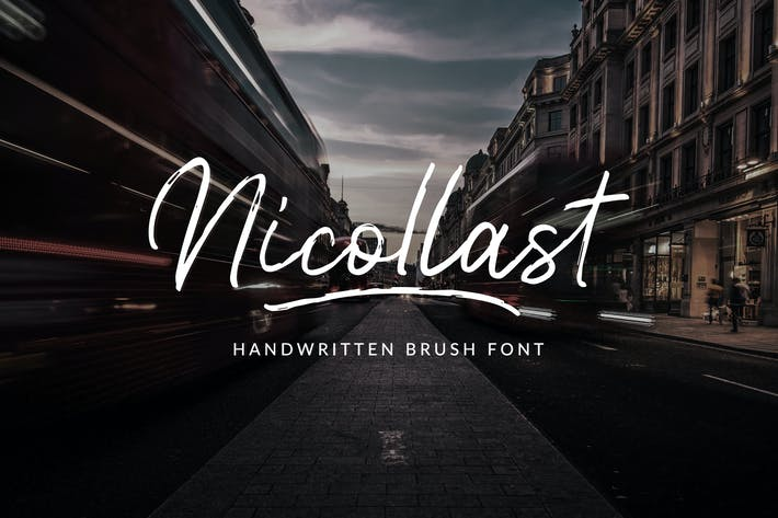 Thumbnail for Nicollast Handwritten Brush Font
