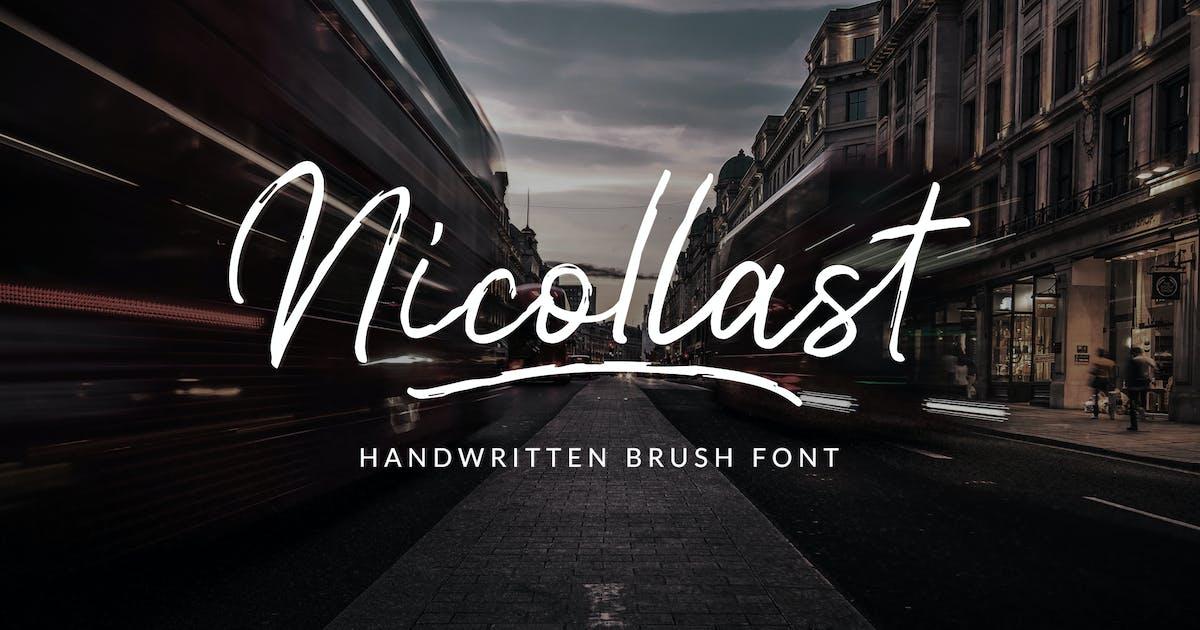 Download Nicollast Handwritten Brush Font by weapedesign