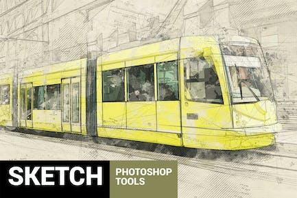 Architectum 2 - Sketch Tools Photoshop Action