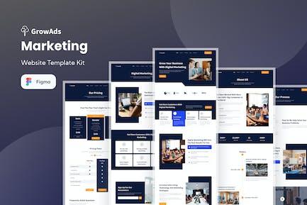 GrowAds - Marketing Website Template