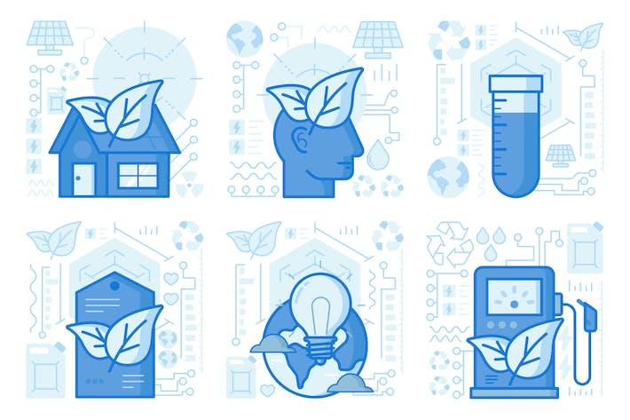 Thumbnail for IIlustraciones UX de Green Mind