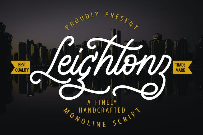 Thumbnail for Leightonz | A Finely Handcrafted Monoline Script