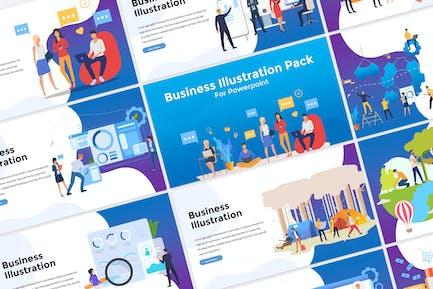 Presentación de ilustración empresarial