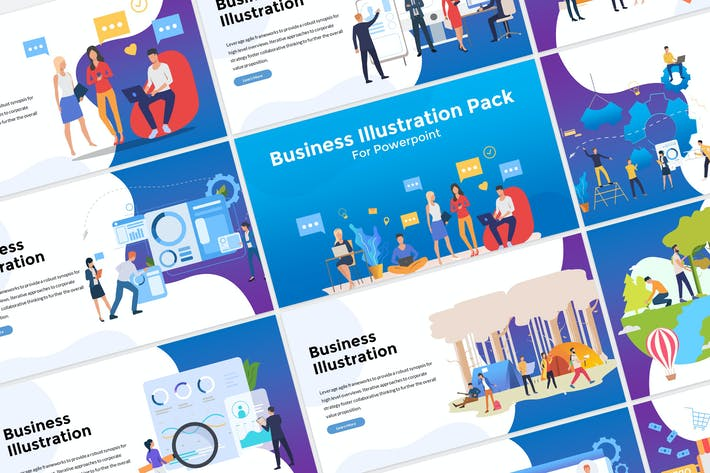 Thumbnail for Business Illustration Presentation