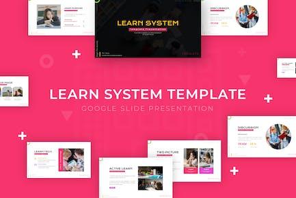 Aprender Sistema - Plantilla Google diapositivas de