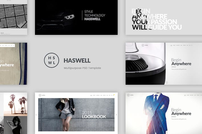 Thumbnail for Haswell – Multipurpose PSD Template