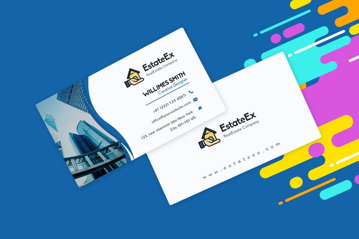 Thumbnail for Modern Visiting Card Template For RealEstate Agent