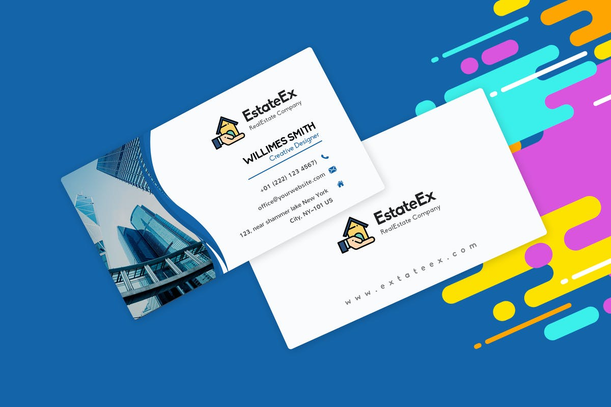 Download Modern Visiting Card Template For RealEstate Agent by mexopixel by Unknow