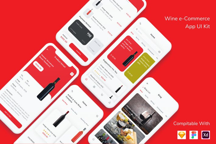 Thumbnail for Wine e-Commerce App UI Kit
