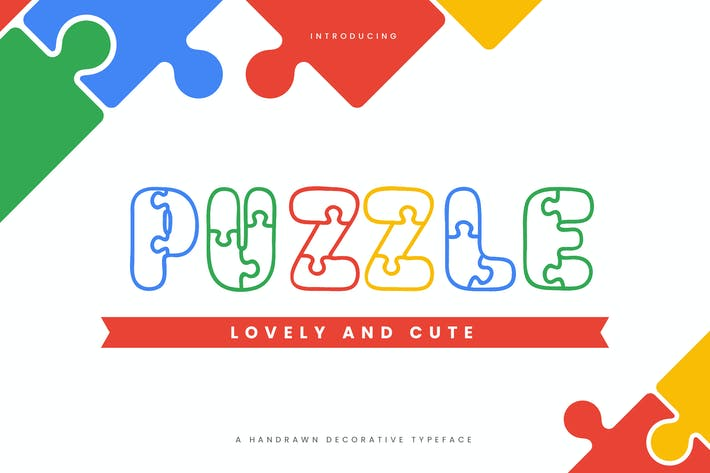 Thumbnail for Puzzle - Fun Children Typeface