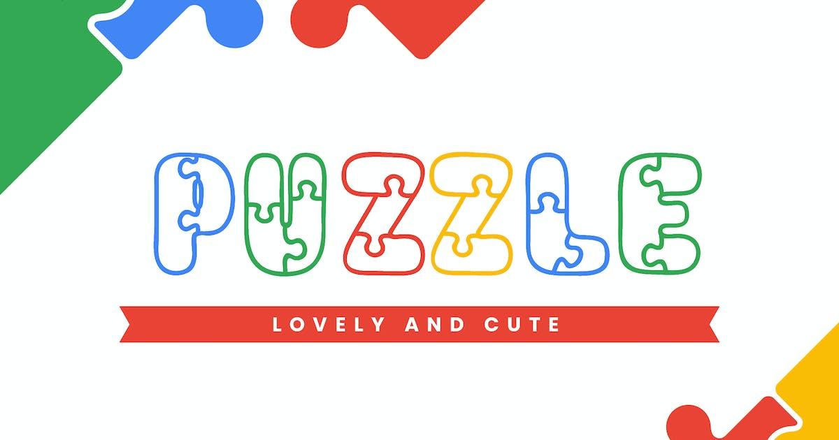 Download Puzzle - Fun Children Typeface by naulicrea