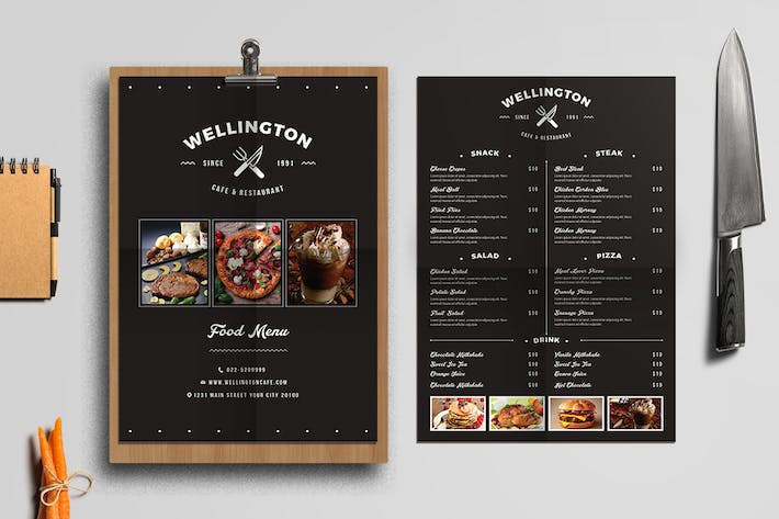 Thumbnail for Simple Minimalis Restaurant Food Menu Package