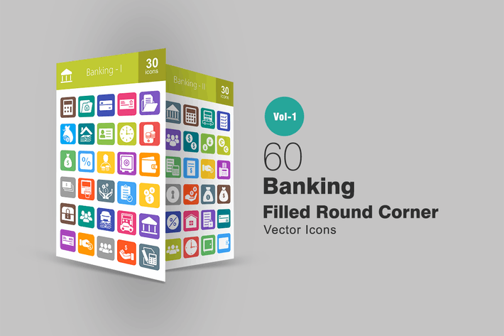 Thumbnail for 60 Banking Filled Round Corner Icons