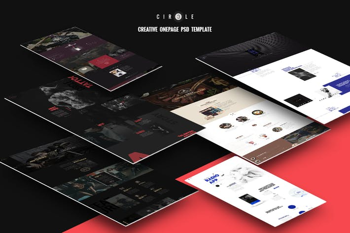 Thumbnail for CIRCLE - Multipurpose Onepage PSD Template