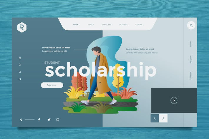 Thumbnail for Education Web Header PSD & Vector Template