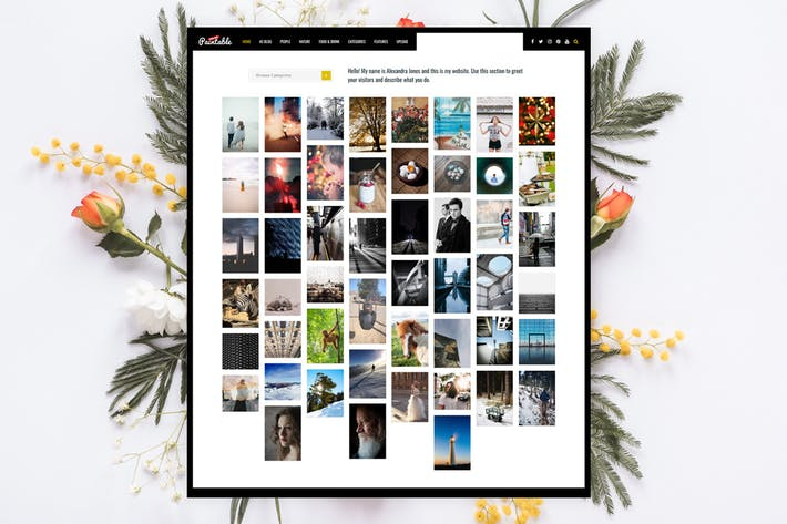 Paintable - Photography / Photos Blog Theme