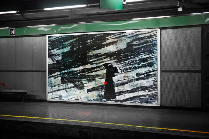 Thumbnail for Subway Billboard Mock-up
