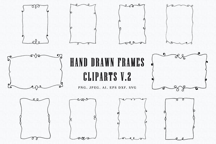 Thumbnail for Handmade Frames Cliparts Ver. 2
