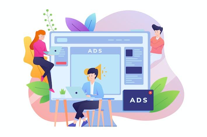 Thumbnail for Online Advertising Illustration