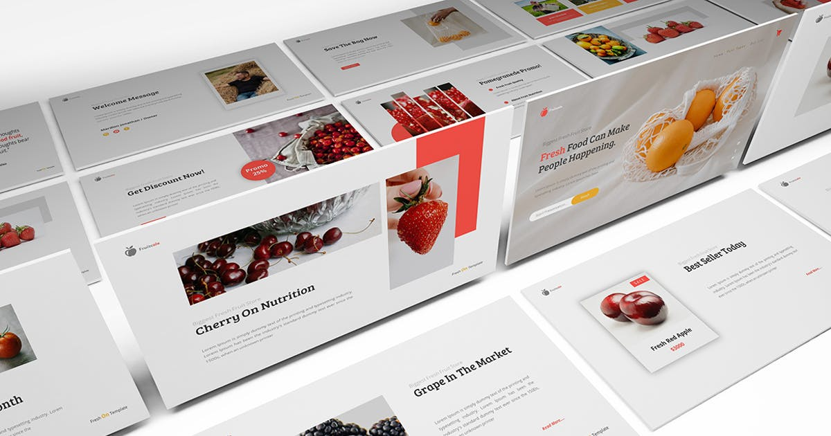 Download Fruitcole Keynote Template by Formatika
