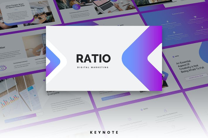 Thumbnail for Ratio - Digital Agency Keynote Template