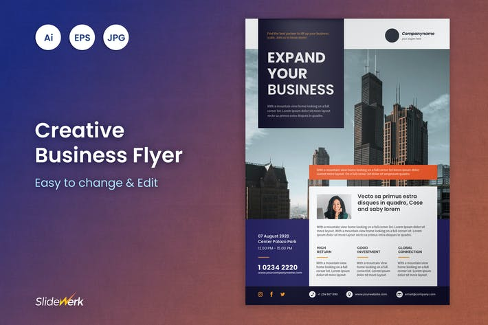 Thumbnail for Business Flyer Template 17 - Slidewerk