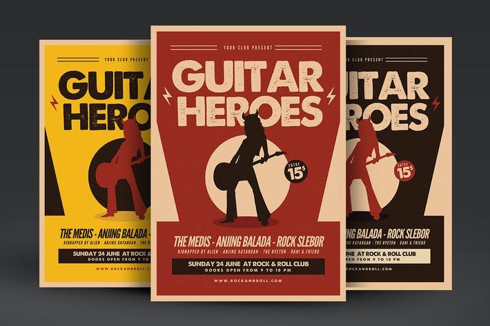 Thumbnail for Guitar Heroes Music Flyer