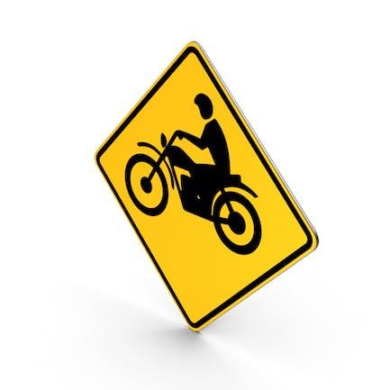 Motorrad-Kreuzung Straßenschild