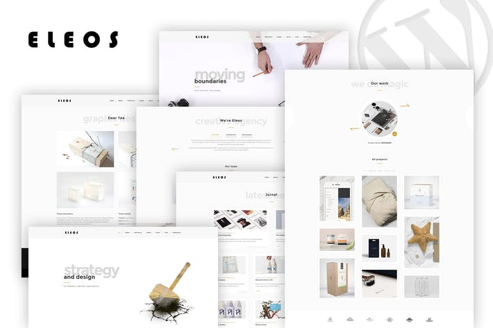 Thumbnail for Eleos - One-Page Creative WordPress Theme