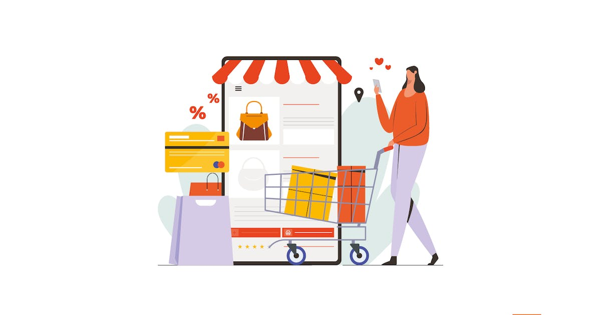 Download Women Shopping Online With Mobile Phone by visuelcolonie
