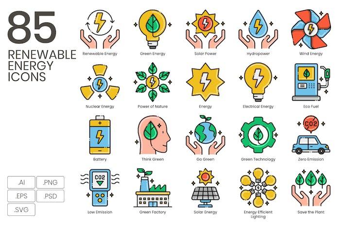 "85 Icons für erneuerbare Energien - Serie ""Ästhetik"