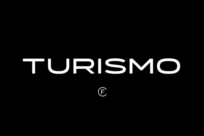 Thumbnail for Turismo CF | midcentury font family