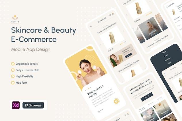 Perity - Skincare Beauty E-Commerce Mobile App